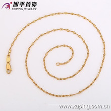 42116 Xuping moda diseño simple 18k collar de dama de compromiso