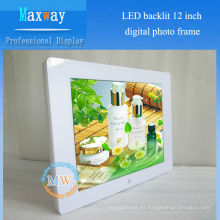 4: 3 resolución 800X600 foto marco digital 12 pulgadas