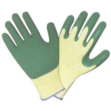 Rubber Gloves With Latex Coating green