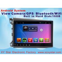 Sistema Android 10.1 polegadas carro DVD Player para Honda Civic com navegação GPS