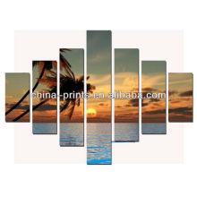 HD Wall Art Sunset Seaside Фотографии Холст Панели для рисования