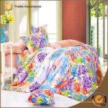 Reactivo impreso conjunto de ropa de cama 3d rey tamaño 100% algodón moderno conjunto de sábanas de lujo barato conjunto de dormitorio de la boda