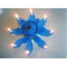 Vela de la música de la flor para el uso 2016 de la torta vela caliente del cumpleaños de la venta