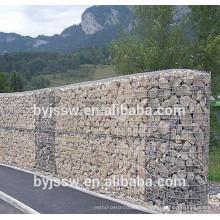 Стеклянный камень для Габионов и сваренная Коробка gabion ячеистой сети