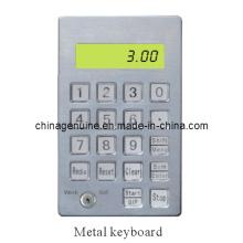 Zcheng Treibstoffspender Computer Edelstahl Metall Tastatur (vertikal)
