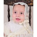 Spätestes hellgelbes westliches Baby erster Geburtstag Taufe Kleidung Baby Taufe Partei tragen Kleid mit Hut