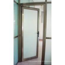 Porte d'entrée en aluminium à double vitrage