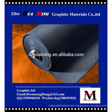 soft or hard Graphite felt as thermal insulation material