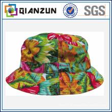 Projeto personalizado Logotipo / etiqueta Algodão Chapéu de balde em branco