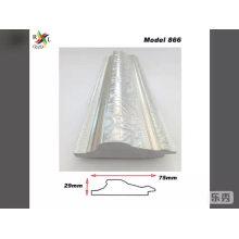 Moulure de miroir en plastique moulure de cadre en argent