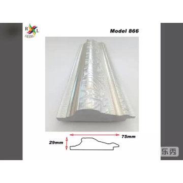 Moldura de espelho de plástico moldura de moldagem de prata