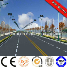 Solar Street Light Price List, Hot Sale White Pole 8m 50W Outdoor LED Solar Street Lights