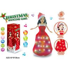 Musik-Tanzen-Licht-Weihnachtspuppe-Weihnachtsprinzessin-Mädchen-Spielzeug