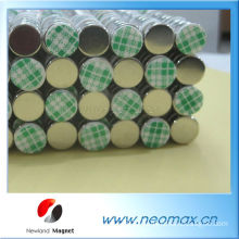 Small round disc magnet with adhesive