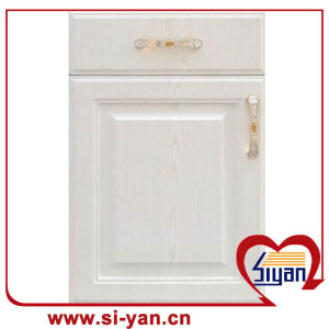 Wooden white cabinet with doors
