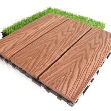 Saudi Arabia Hot Sell Anti-Slip WPC Composite Floor Tile Outdoor Garden Decorative Floor Covering Interlocking DIY Solid Tiles