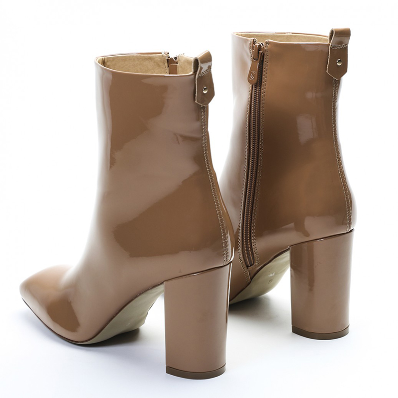 Couro de couro Ladies Short Ankle botas da moda