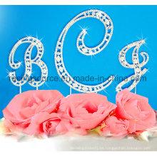 Crystal Alphabelt Rhinestone inicial de la letra a a la boda Z Pastel Cake
