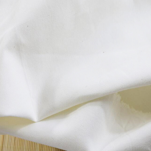 100% Baumwolle Twill White Fabric