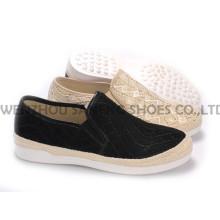 Zapatos de mujer ocio PU zapatos con suela de cuerda Snc-55005