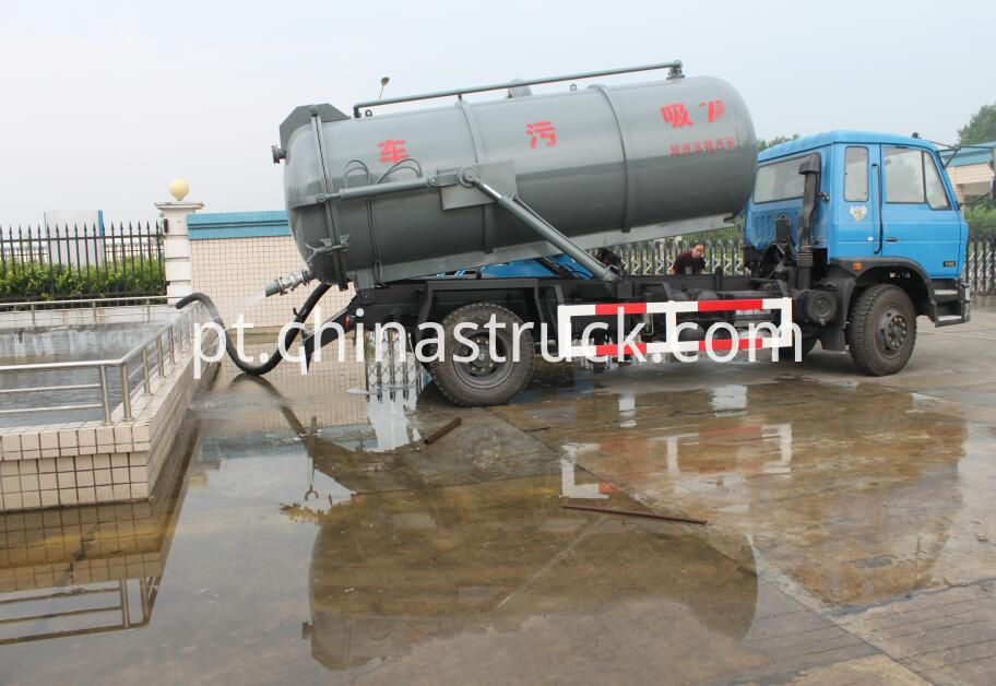 10m3 sewage suction tank truck