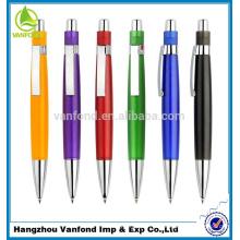 Mejor venta plástico bola promocional punto pen