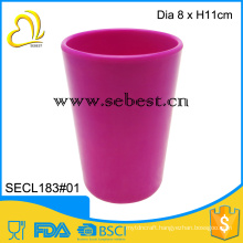 "Wholesale Plastic melamine 3"" deep pink round shape small cup"