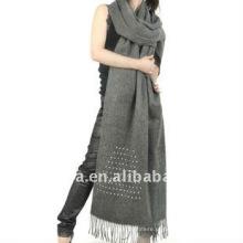 Lenço liso 100% do shawl dos lãs com furos