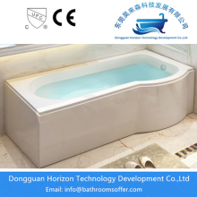 Manufactur standard for single side apron tub Horizon acrylic solid surface tub supply to Indonesia Exporter