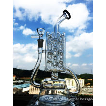 2016 New Design Wholesale Popular 12 Inch Inline Perc Recycler Glass Smoking Pipe