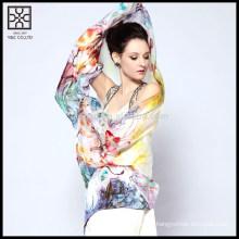 Novo projeto de seda impresso cachecol