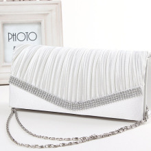 Chain Shoulder Women Satin Envelope Clutch Evening Bag
