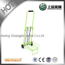 Green folding luggage cart handle used luggage carts