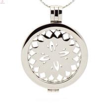 Роскошный ювелирных изделий,плавающей очарование медальон,открыть медальон монета