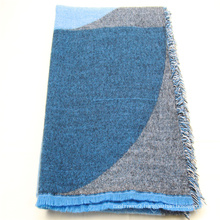 2020 popular winter geometry pattern scarf  super soft hand feeling with fringes