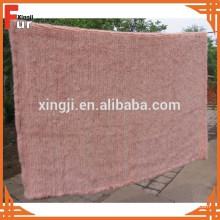 Luxo mão tricotada Mink Fur Throw