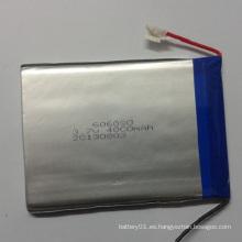 Alto rendimiento 3.7V 4000mAh 606090 Batería Li-ion polímero de litio
