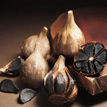 Organic whole black garlic