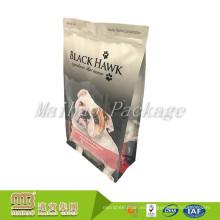 Venta al por mayor barata aduana que imprime el bolso de empaquetado del alimento de perro de la cremallera de la hoja de aluminio de la parte inferior plana plana