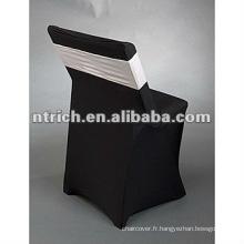 Chaise pliante spandex lycra couvre avec bande spandex pour mariage