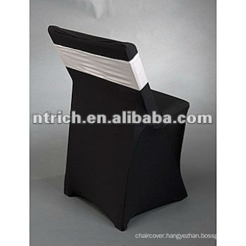 Lycra spandex folding chair covers with spandex band for wedding