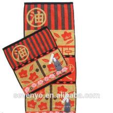 Toalla de algodón color terry 100% patrón de película de dibujos animados de color Toallas de mano Ht-018