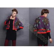 Autumn Intarsia Knit Women Poncho Sweater Cardigan Coat In