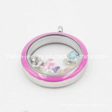 Fashion Stainless Steel Glass Charm Jewellery Locket Pendant