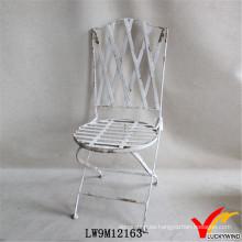 Francés país ronda sesión de hierro antiguo plegable sillas de jardín