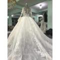 Long sleeve ball gown wedding dress 2017 luxury WT331 Vestido de novia