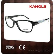 2017 Lady Fashional Designer acétate optique lunettes et lunettes lunettes