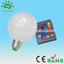 China fábrica de aluminio e27 e26 b22 10w e27 control remoto 16 color rgb led bombilla