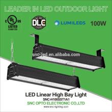 2 pies LED Linear Highbay, 100W Linear High Bay para High Racks, UL DLC LED Highbays