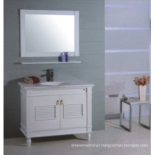 White Wooden Bathroom Vanity (B-310)